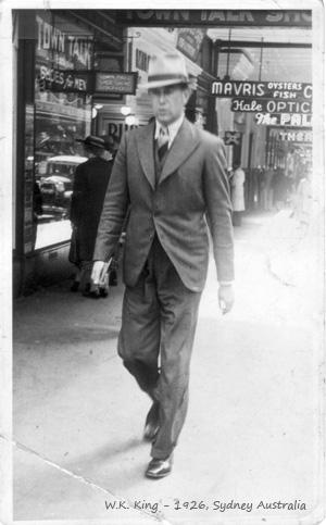 W.K. King in 1926