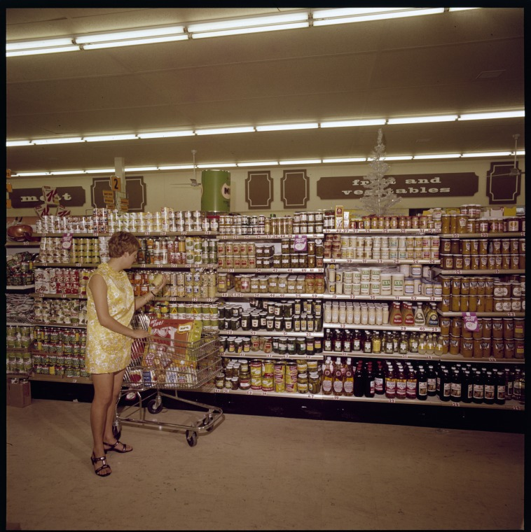 Store display in the 1970s